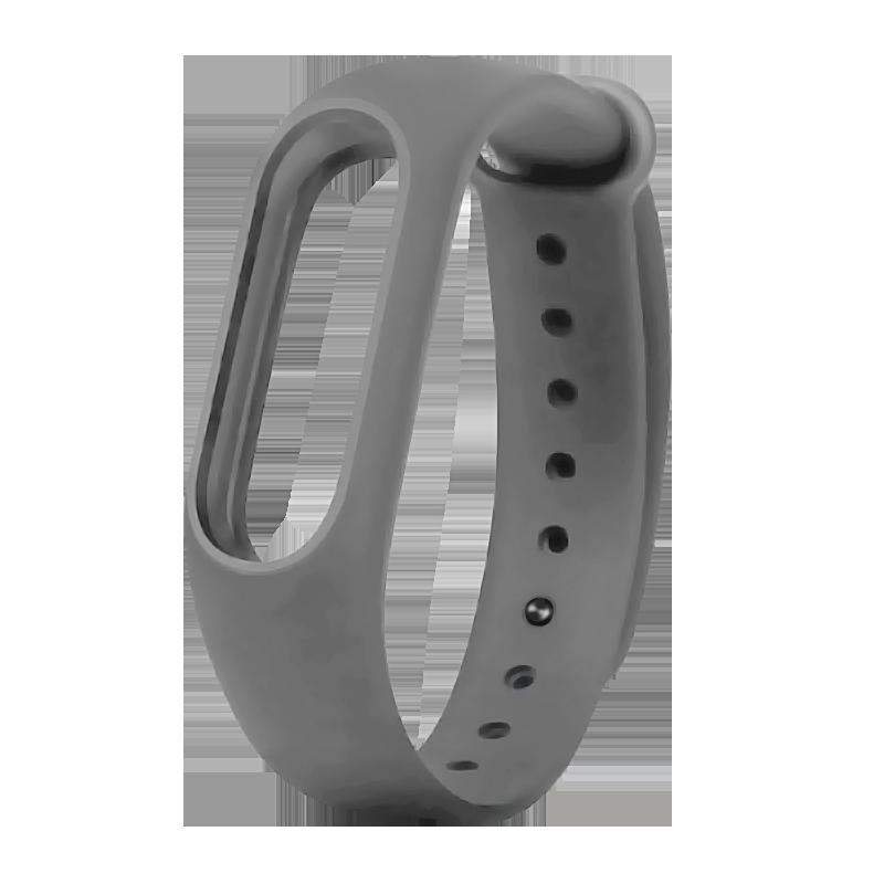Силиконовый ремешок для Xiaomi Mi Band 2 Borasco Серый