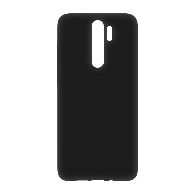 Защитный чехол с микрофиброй для Redmi Note 8 Pro BoraSCO Soft Touch (черный) цена и фото
