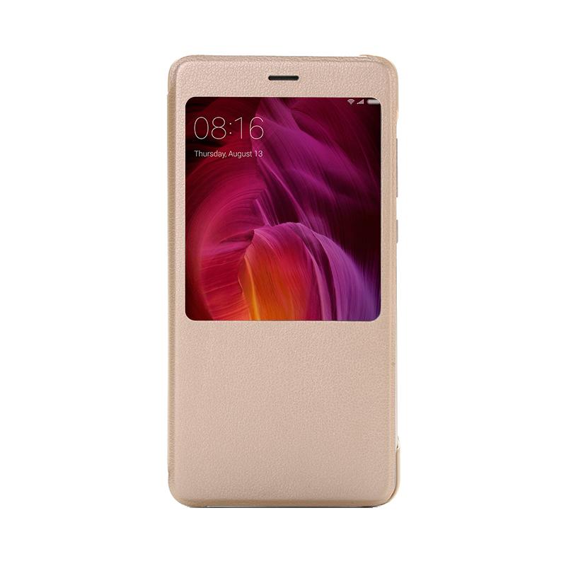 Умный-чехол книжка для Xiaomi Redmi Note 4 золотой on the slow train again