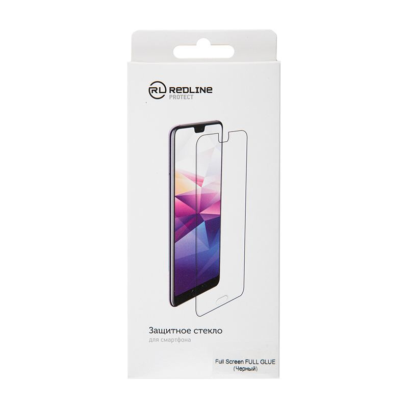 Защитный экран Xiaomi Redmi 7 Full Screen tempered glass FULL GLUE Black