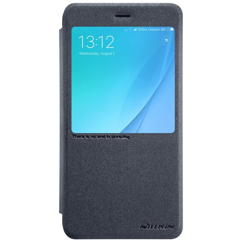 Чехол - книжка Nillkin Sparkle для Xiaomi A1 Black нейлон nillkin samsung s8plus tpu прозрачный мягкий чехол чехол телефонный чехол белый