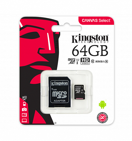 Kingston Canvas Select MicroSDHC SDCS/64GB