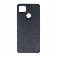 Wellcase Kanvas jeans PU Hard для Xiaomi Redmi 9C (черный)