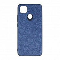 Wellcase Kanvas jeans PU Hard для Xiaomi Redmi 9C (синий)