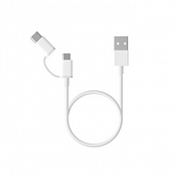Mi 2-in1 USB cable 1 м (белый)